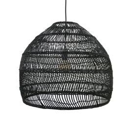 HK Living :: Lampa wisząca wiklinowa czarna rozm. M