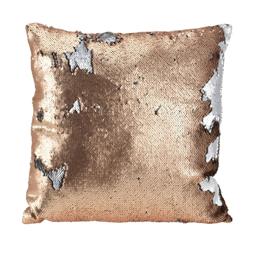 Poduszka Glamour 45 x 45 cm srebrna / złota