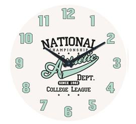 Zegar ścienny Athletic - wzór IV